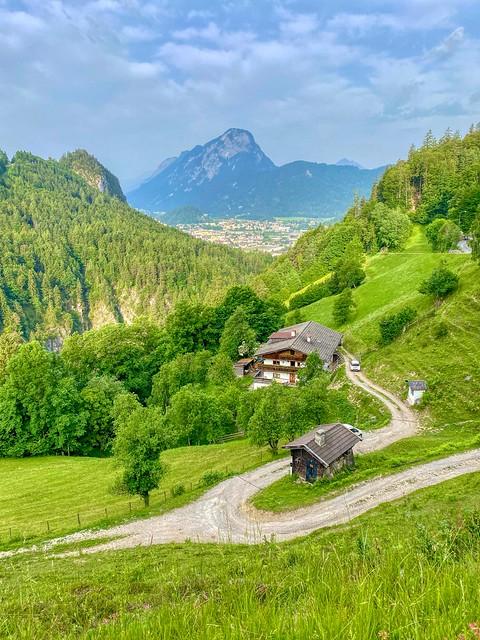 View from Kaiser valley towards Pendling mountain near Kufstein in Tyrol, Austria