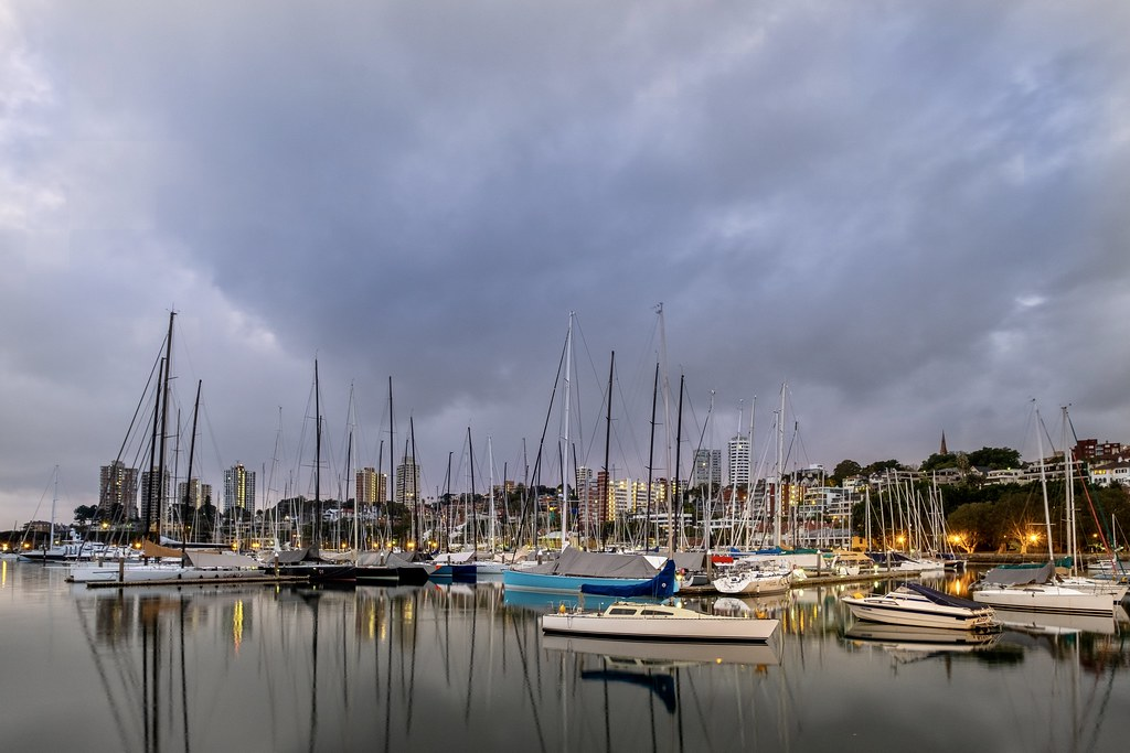 We are definitely having a wetter year in Australia than normal, and no one here complains about rain, but grey starts in Sydney aren't as exciting as lighter weather. This is Rushcutters Bay at dawn between showers.