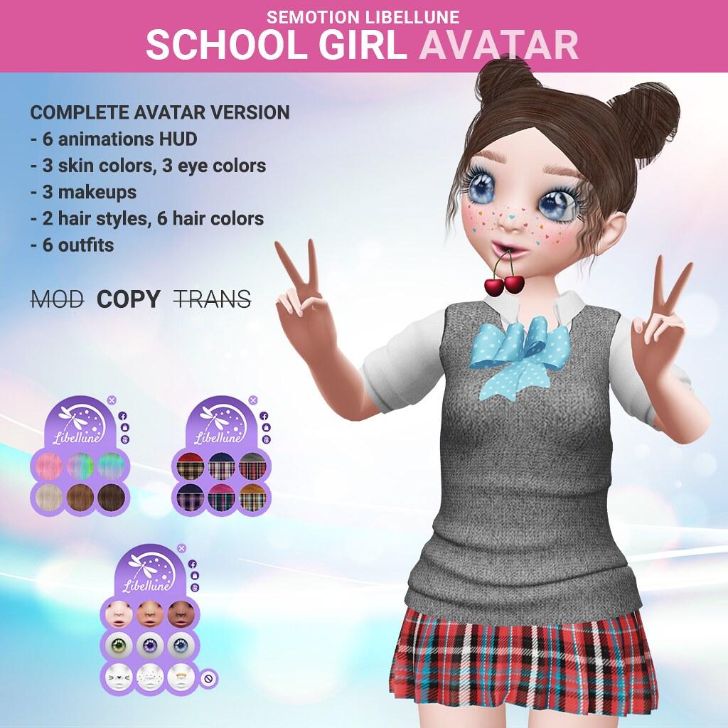SEmotion Libellune School Girl Avatar
