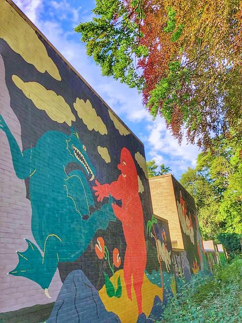 colorful mural by artist Luis Manuel Lambrechts