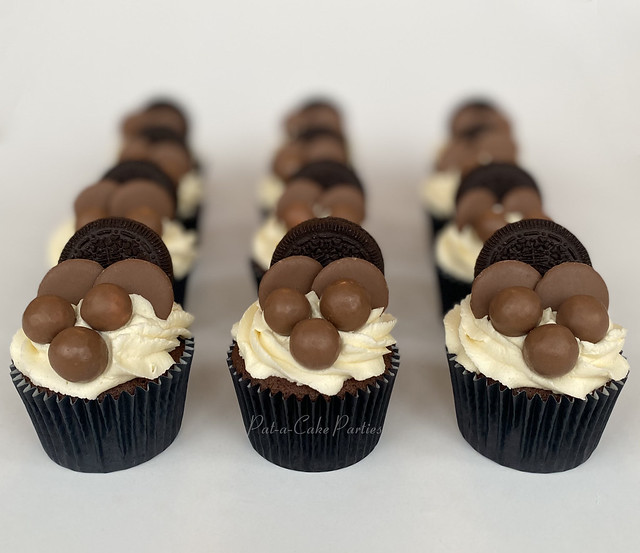 Oreo Buttons Maltesers cupcakes