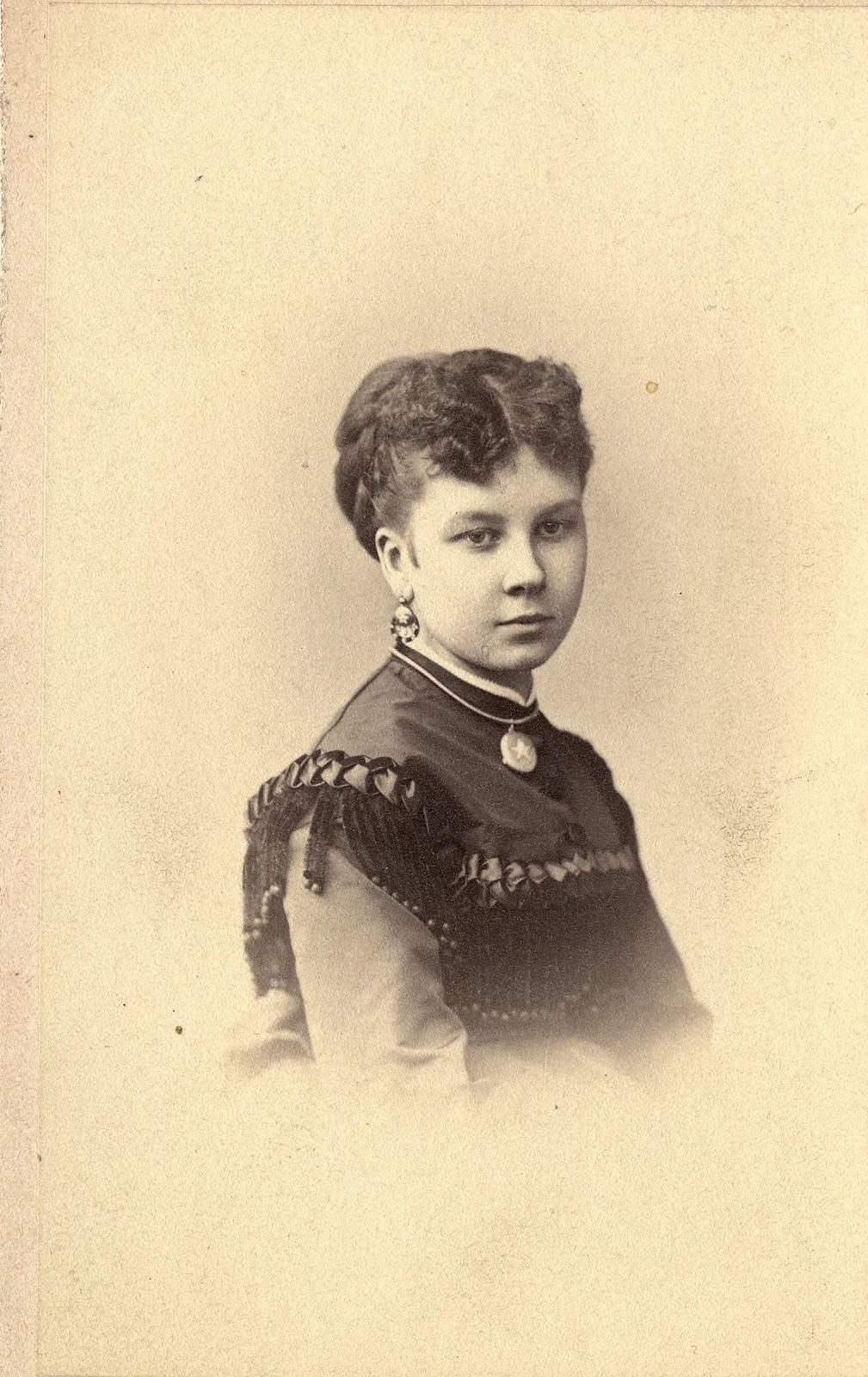 Безносикова Ольга Михайловна - дочь золотопромышленника М.С. Безносиков. 1865