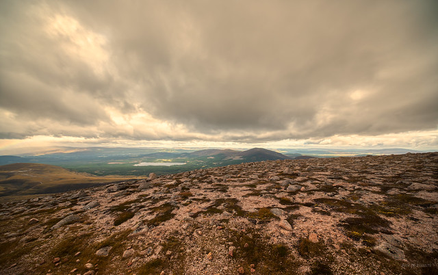 Close to the clouds at Cairngorms National Park, Scotland.
