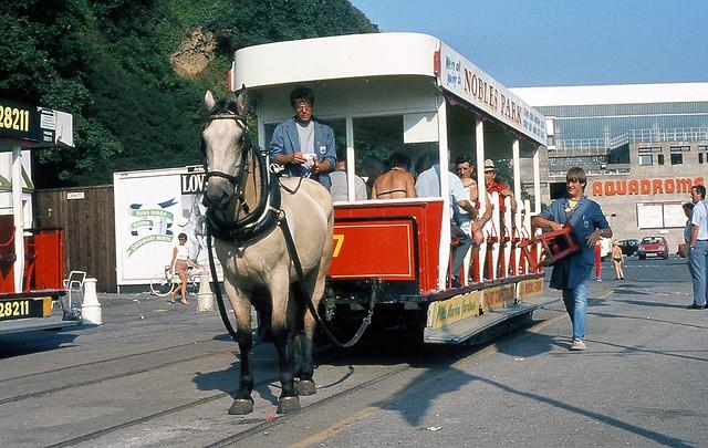 Toastrack Horse Tram, Douglas, Isle of Man, August 1984