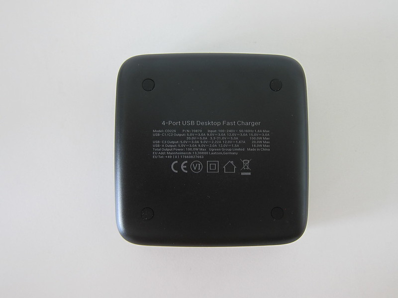 Ugreen 4-Port PD 100W Charger - Bottom