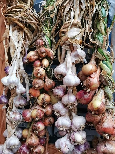 Homegrown garlic and shallots