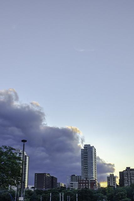 Skyline Sunset from McKinley Marina