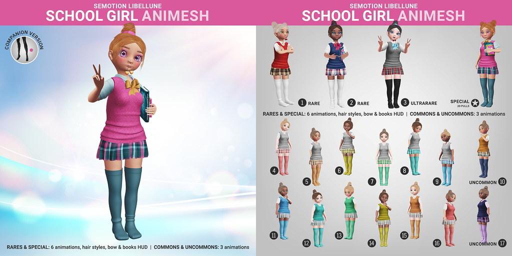 SEmotion Libellune School Girl Animesh
