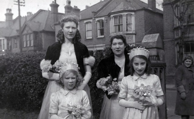 My Tall, Teenage, Red Haired Bridesmaid Mother At A Pre-War Foggy Wedding