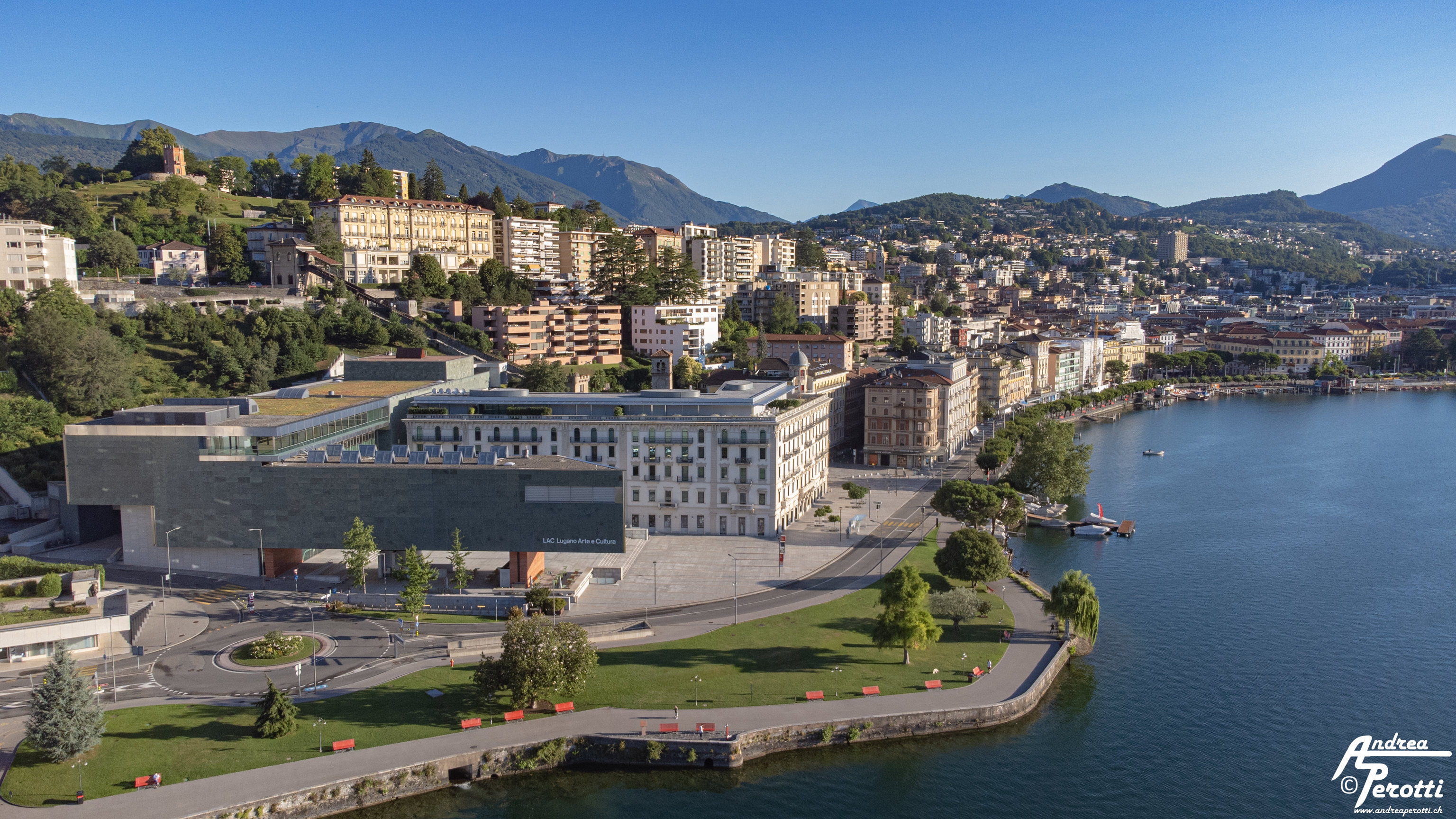 Lugano from drone - 11.07.2021