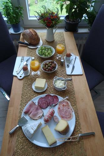 Frühstück nach dem Marktbesuch
