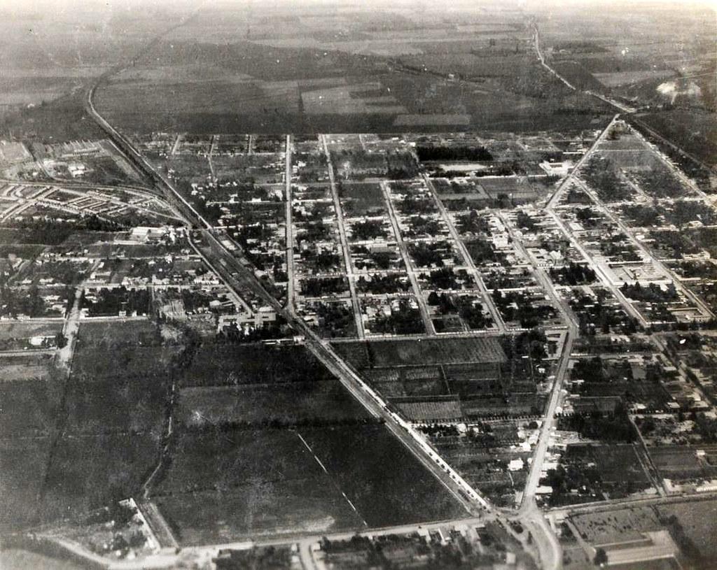 Vista aérea San Bernardo, comienzo años 1930