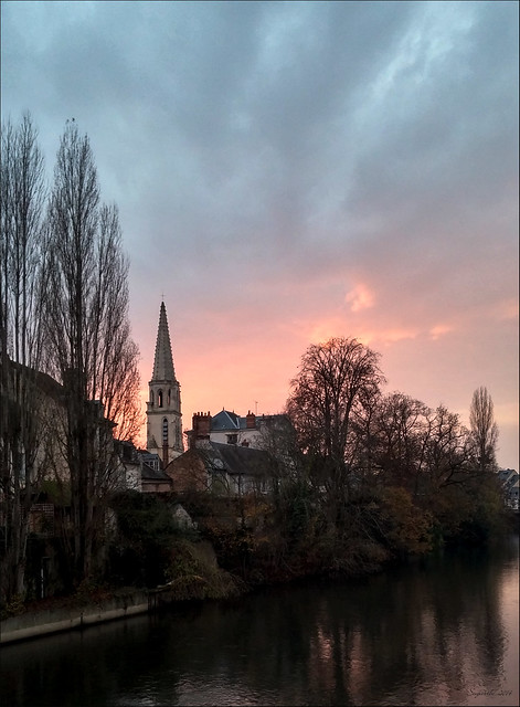 November sky at dusk