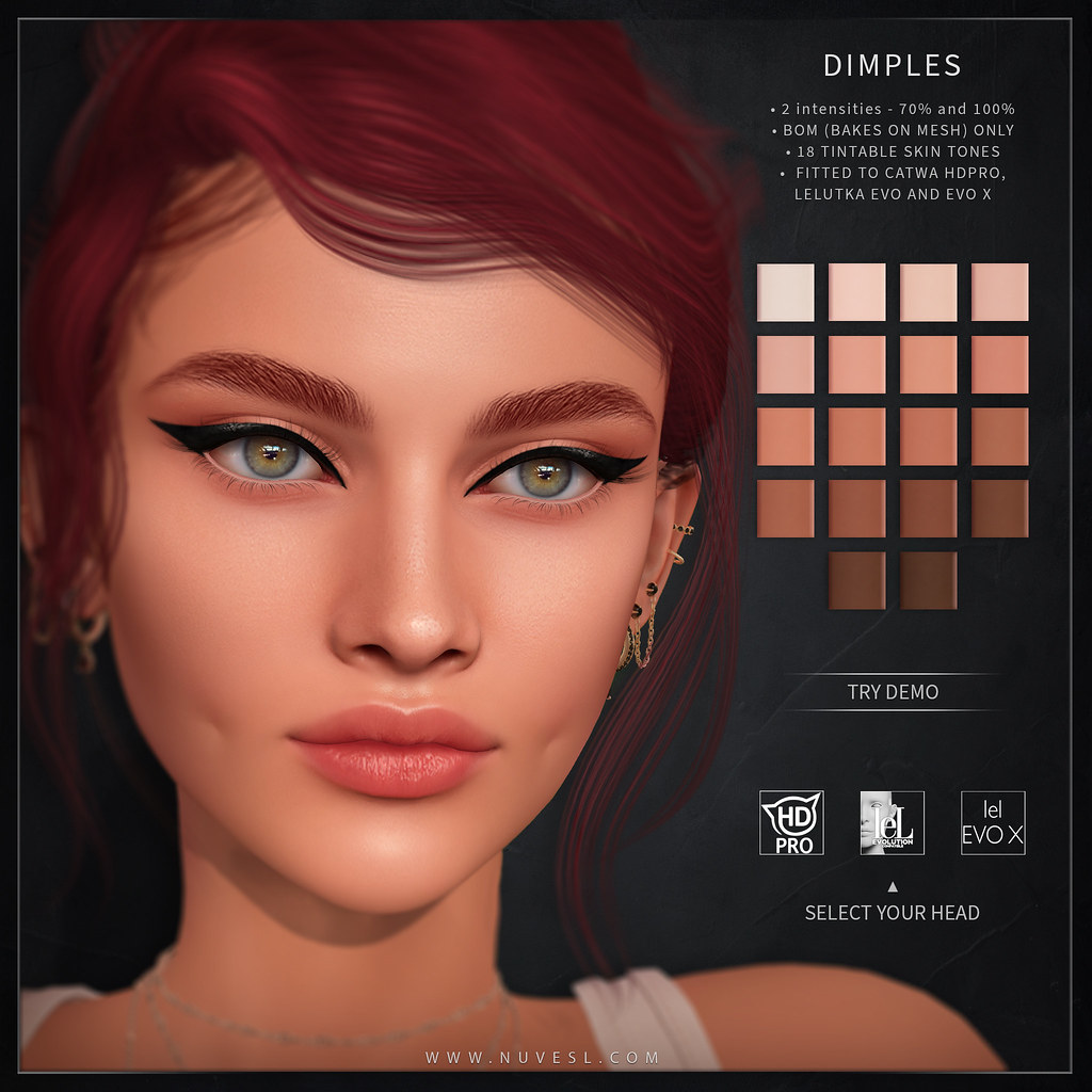 Dimples (BOM) – Catwa HDPRO/Lelutka Evo/Lelutka Evo X