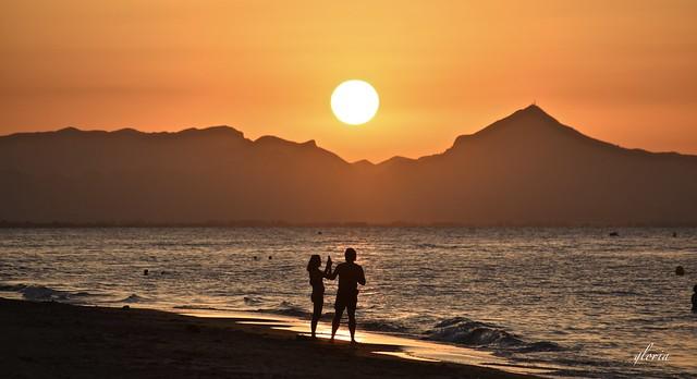 Calor en el Mediterráneo.