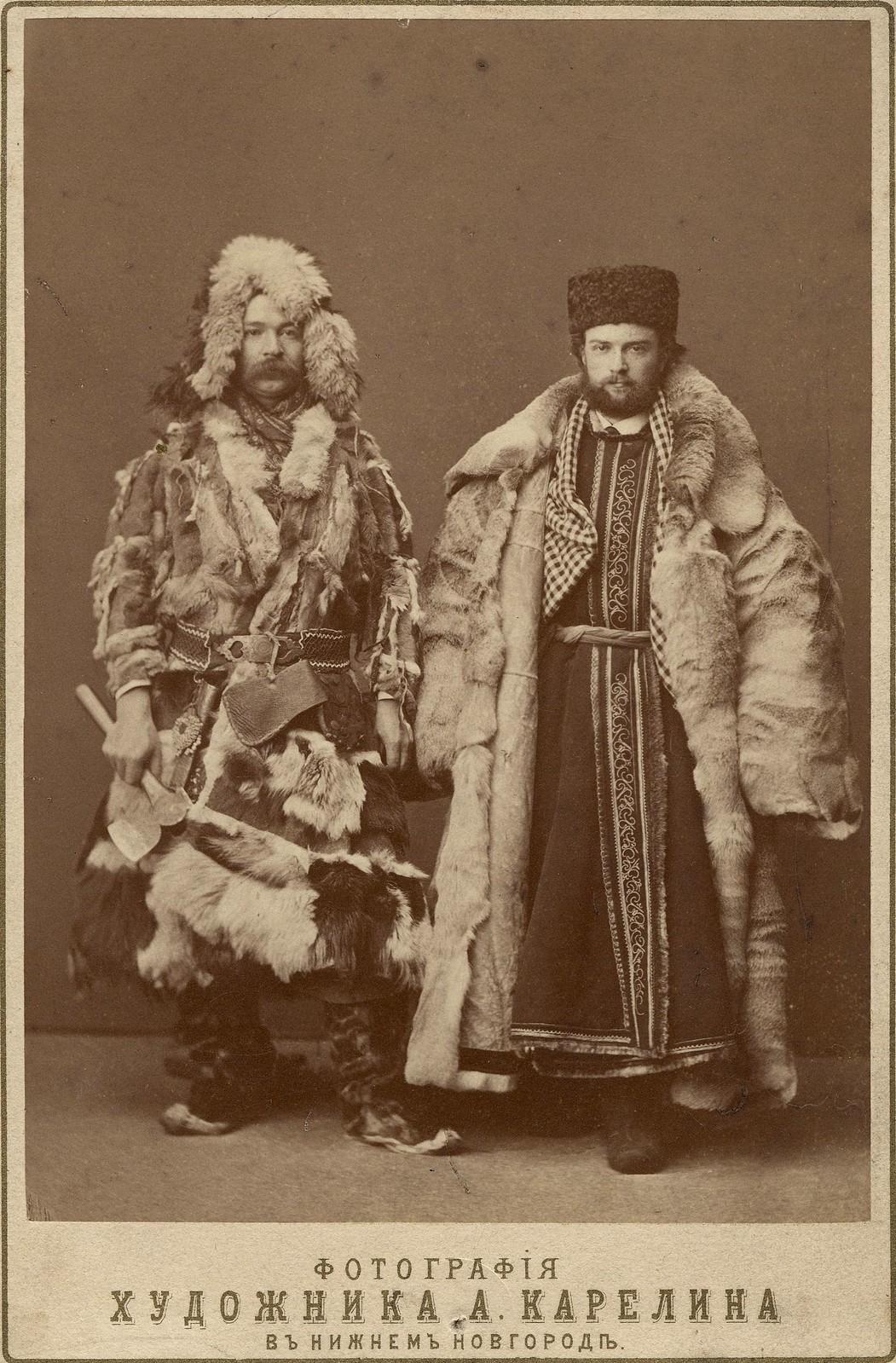 Красноярские купцы на ярмарке в Нижнем Новгороде. 1865