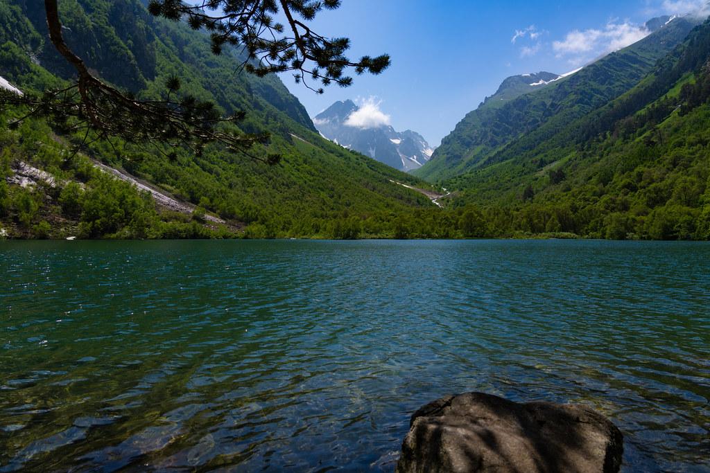 Upper Baduk Lake in Karachay-Cherkessia, Russia