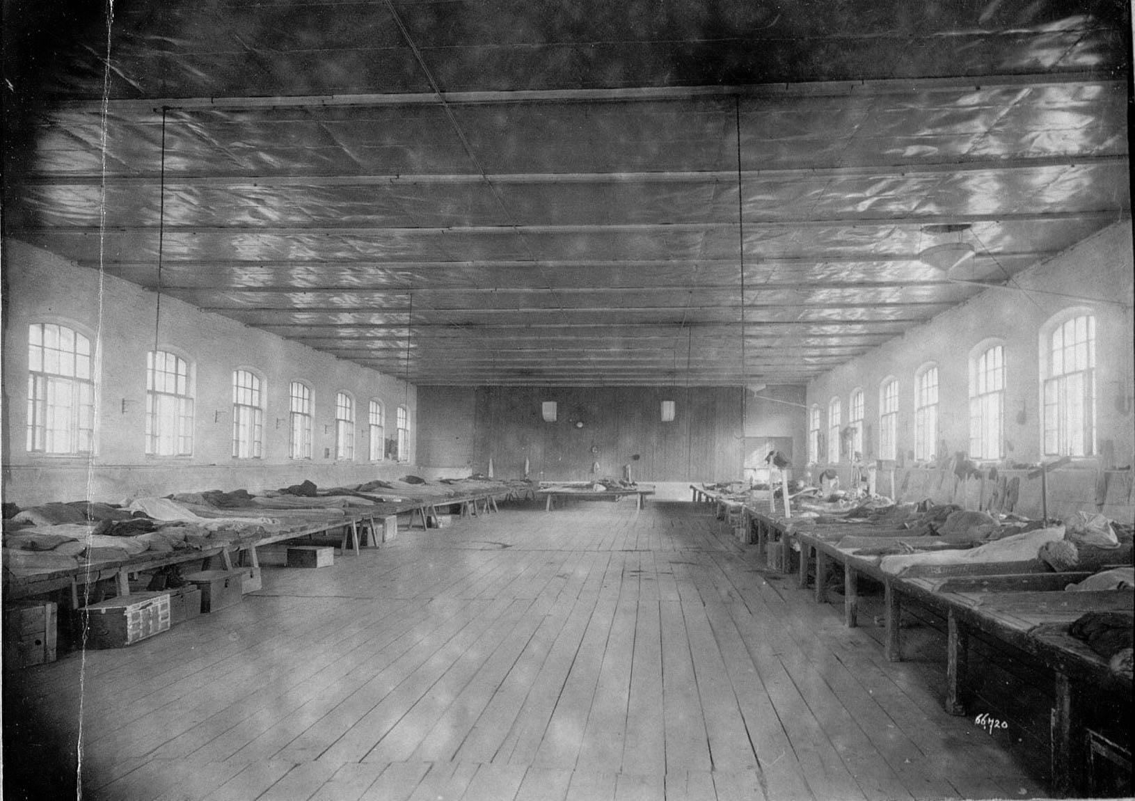 Вид общежития для мужчин-рабочих Трехгорной Прохоровской мануфактуры