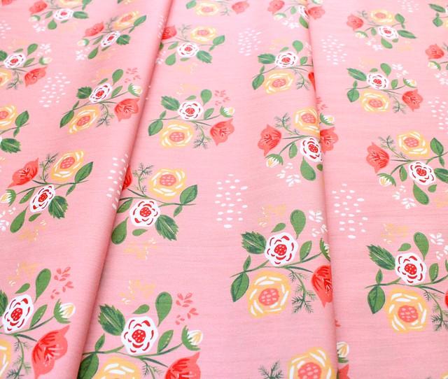 Monaluna Vintage 74 V74-03 Bouquet on Pink