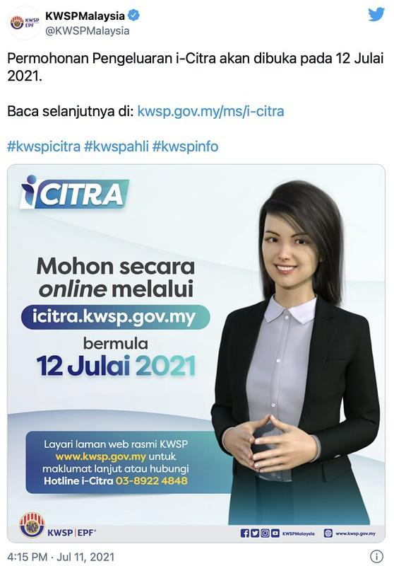 Permohonan Pengeluaran Kwsp I-Citra