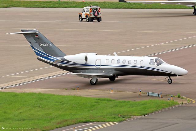 D-CSCA  -  Cessna 525B CitationJet CJ3 c/n 525B-0378  -  LTN/EGGW 11/7/21
