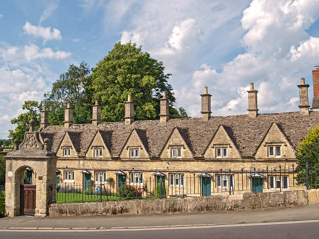 17th century almshouses, Chipping Norton, Oxfordshire, England