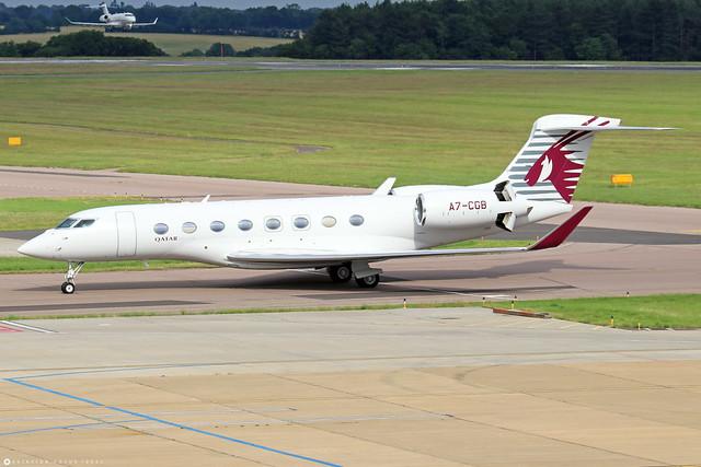 A7-CGB  -  Gulfstream G650ER  -  Qatar Airways Executive  -  LTN/EGGW 11/7/21