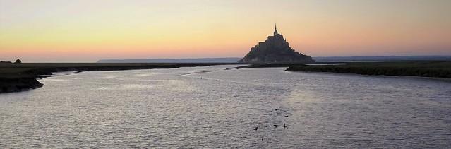 Mont Saint-Michel after sunset