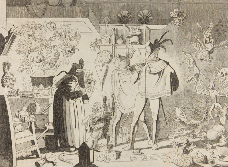 Scene from Faust, undated