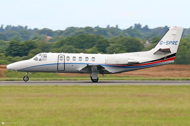 G-SPRE  -  Cessna 550 Citation Bravo c/n 550-0872  -  LTN/EGGW 11/7/21