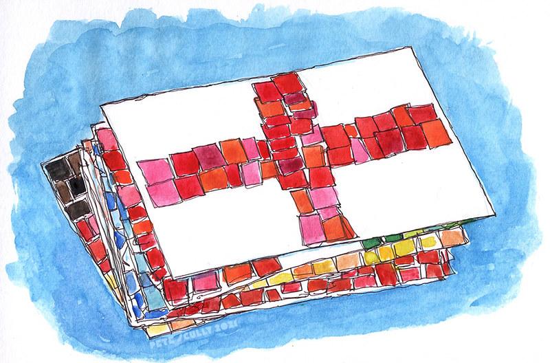 england mosaic flag