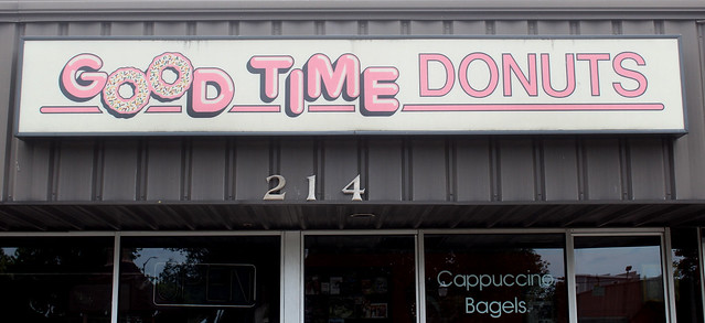 Good Time Donuts Vintage Plastic Sign - Holland, Michigan