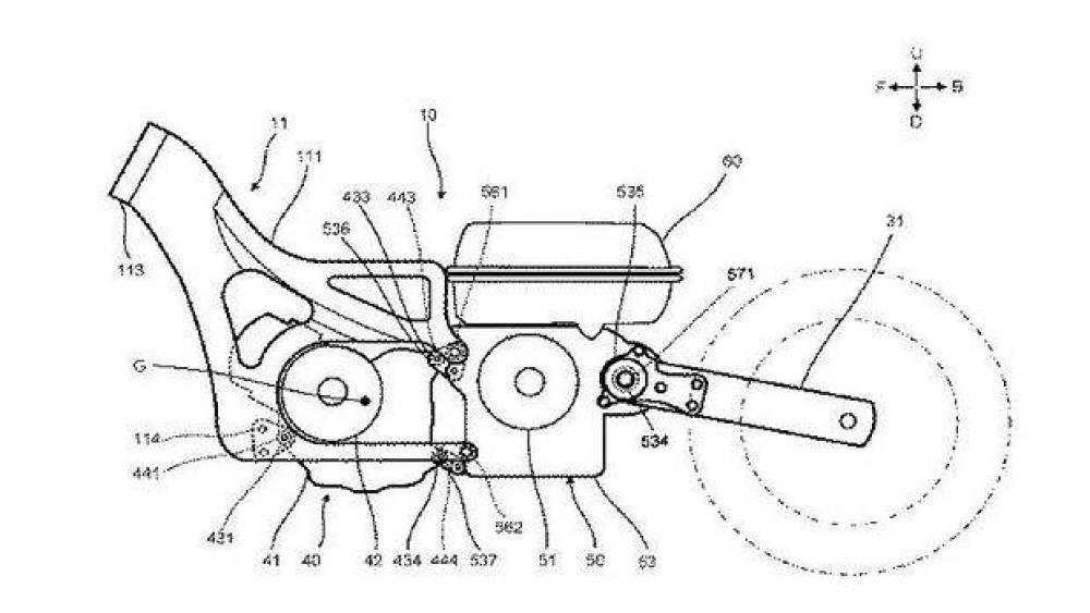 Yamaha TMax Hybrid Generator Patent