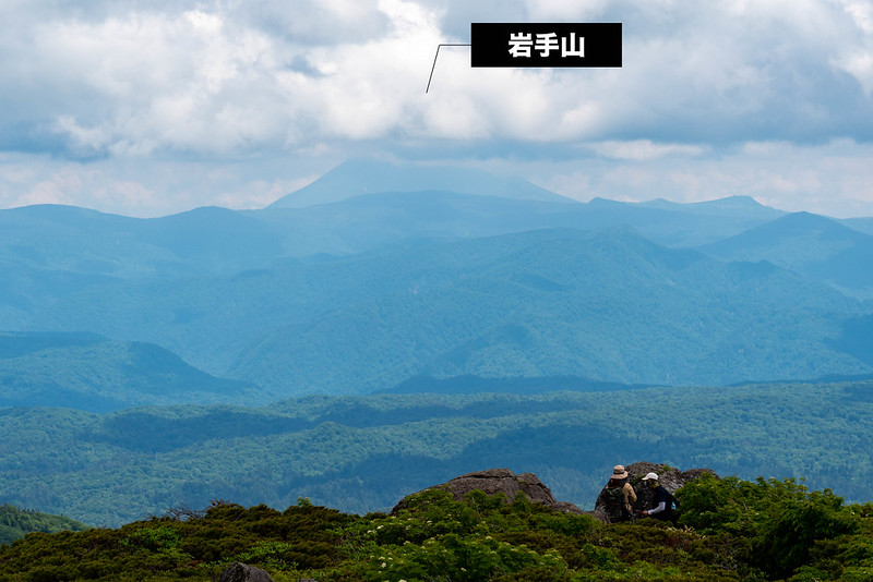 森吉山から見えた岩手山