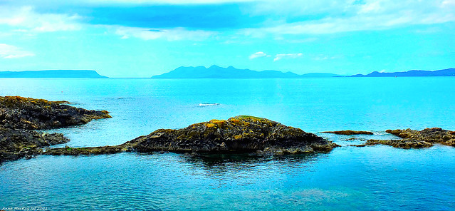 Scotland North West Highlands the islands of Eigg and Skye taken from Mallaig 19 June 2021 by Anne MacKay