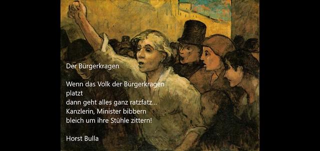 Gedicht, Der Bürgerkragen von Horst Bulla.