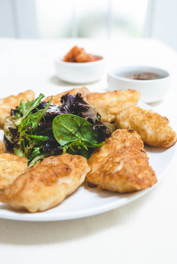 Deliciously Pan Fried Cod. Served With Sangchu Geotjeori.