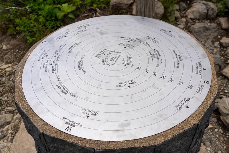 森吉山の方位盤