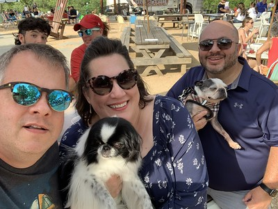 Truck Yard Dallas with our Puppies and Friends
