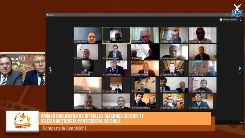 Oficiales Diáconos del Sector 17 realizan su primer encuentro virtual.