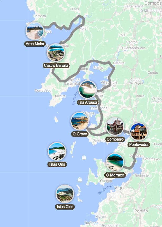 Mejor ruta por las Rias Baixas en coche
