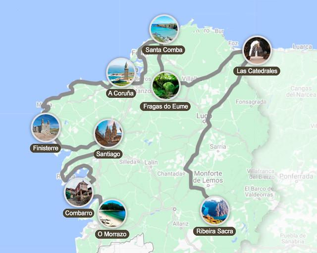 Ruta de una semana por Galicia