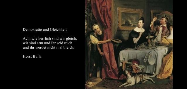 Gedicht, Demokratie und Gleichheit von Horst Bulla.(0)