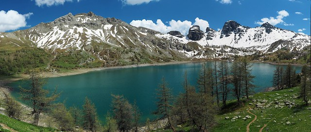 Panorama lac d'Allos