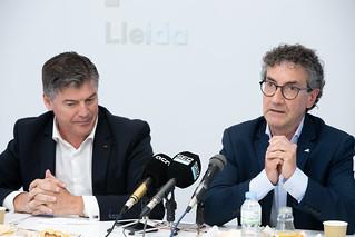 Antoni Cañete i Xavier Caufapé es reuneixen amb els col·lectius de diferents sectors i amb representants d'entitats i administracions locals de Lleida.