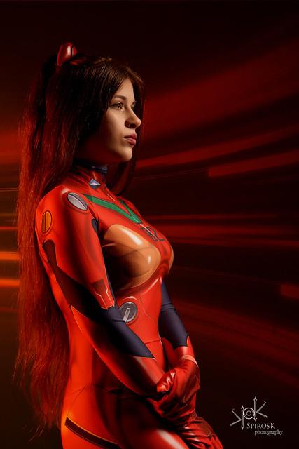 Anastasya N. as Asuka from Neon Genesis Evangelion by SpirosK photography (II: Classic portrait)