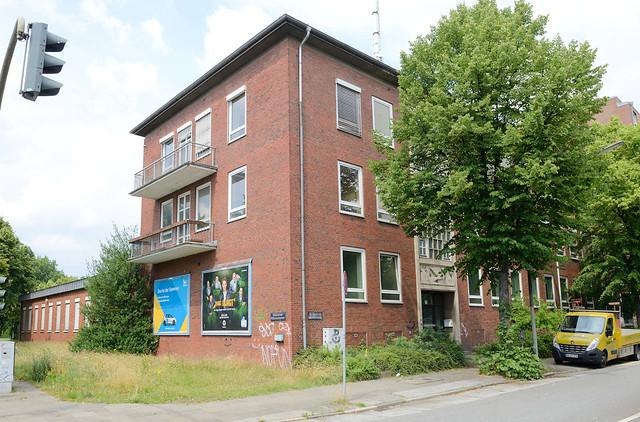 3921 Verwaltungsgebäude der 1960er Jahre am Billhorner Mühlenweg in Hamburg Rothenburgsort.
