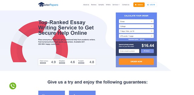 MasterPapers main page