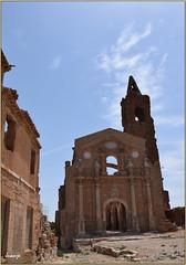 Iglesia de San Martín de Tours (Pueblo viejo de Belchite, Aragón, España, 13-6-2021)
