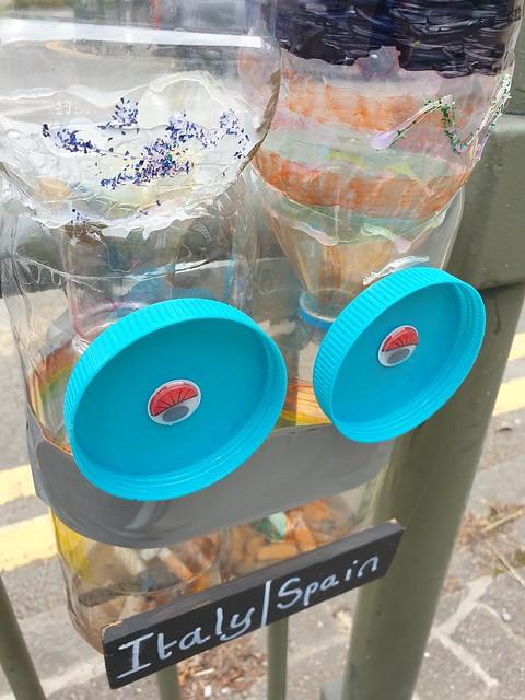 Ballot bin in use North Street Rhayader July 2021